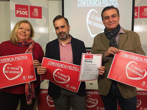 CON EL TÍTULO 'EL PARTIDO QUE QUEREMOS', EL PSOE DE GRANADA ANUNCIA SU PRIMERA CONFERENCIA POLÍTICA