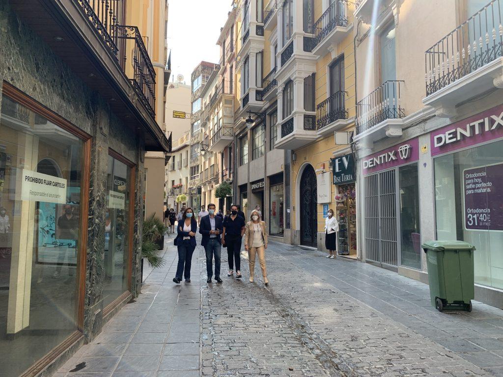 EL PSOE EXIGE UN PLAN DE RESCATE DEL COMERCIO CON ACCIONES URGENTES Visita-comercios-Mesones-1-1024x768